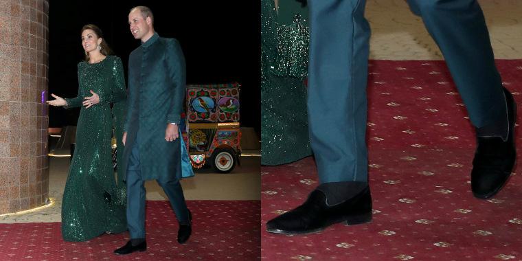 Prince William wears velvet loafers in Pakistan