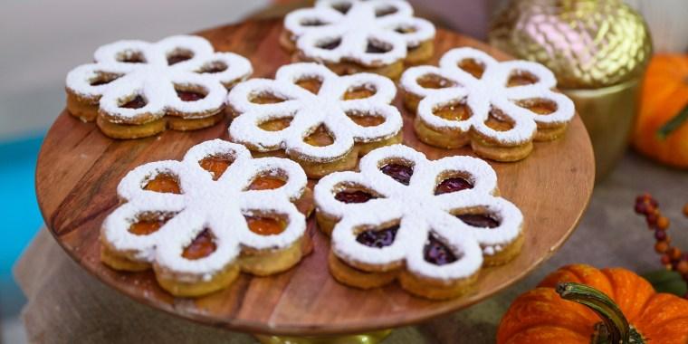 Martha Stewart's Halloween Spiderweb Cookies + Maple-Cream Sandwich Cookies + Caramel-Stuffed Chocolate Chip Cookies + Linzer Flower Cookies + Potato Chip Cookies + White-Chocolate Swiss Meringue Kisses