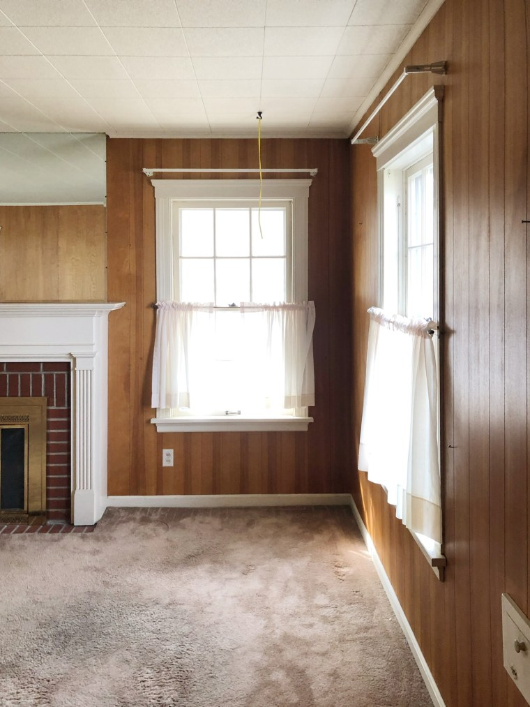 Living Room Wood Paneling Makeover: How To Refinish Wood Paneling