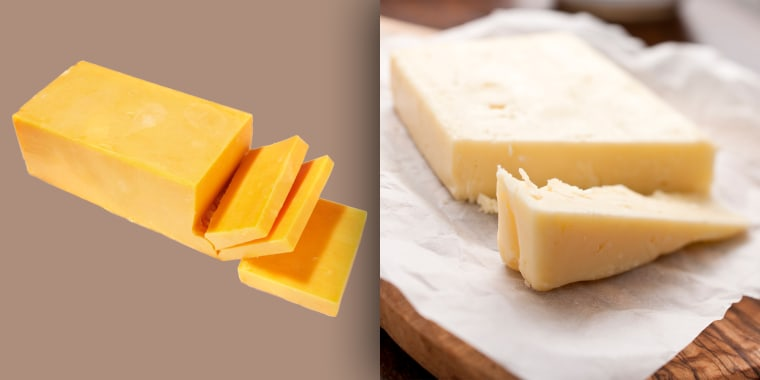 Is there a difference between white and yellow cheddar cheese?