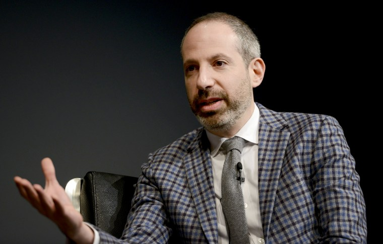 Image: Noah Oppenheim speaks at a panel discussion at The Newseum in Washington in 2016.