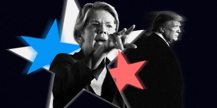 Image: Sen. Elizabeth Warren and President Donald Trump