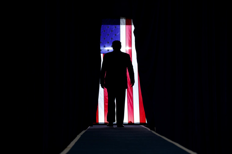Image: President Donald Trump arrives to a campaign rally in Lake Charles, La., on Oct. 11, 2019.