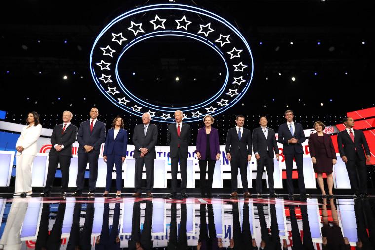 Image: Democratic Presidential Candidates Participate In Fourth Debate In Ohio