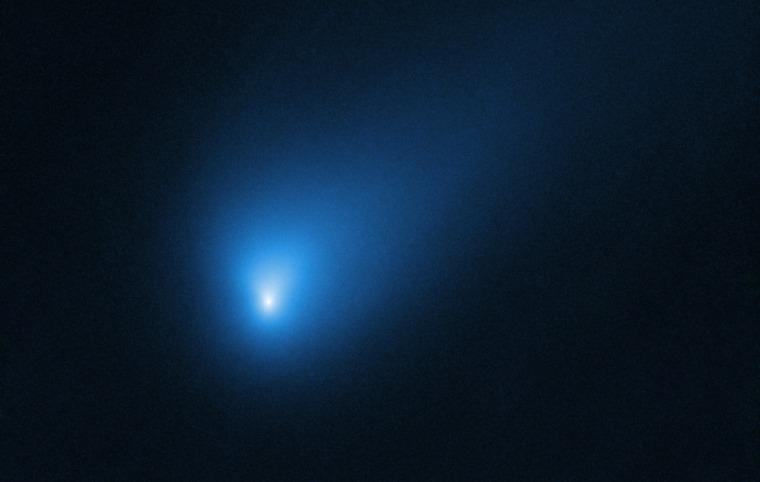 The NASA/ESA Hubble Space Telescope observed Comet 2I/Borisov on Oct. 12, 2019