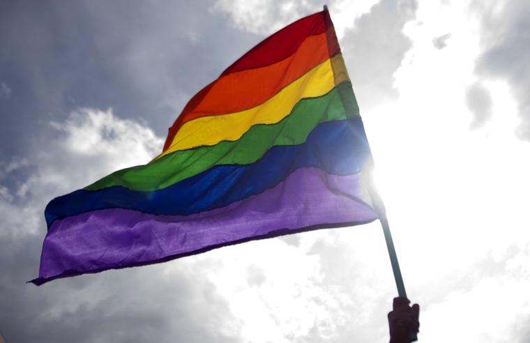 Image: Rainbow Flag, Colombia Gay Pride Parade