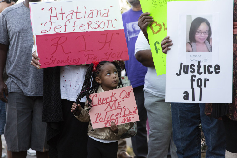 Image: A vigil for Atatiana Jefferson, who was shot and killed by the police, in Fort Worth, Texas, Oct. 13, 2019. (Laura Buckman/The New York Times)