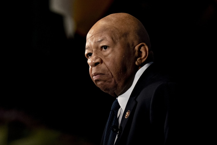 Image: Representative Elijah Cummings, a Democrat from Maryland and chairman of the House Oversight Committee, speaking during a National Press Club event in Washington