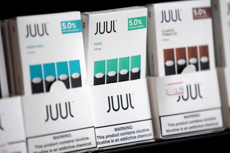 Image: Juul brand vape cartridges
