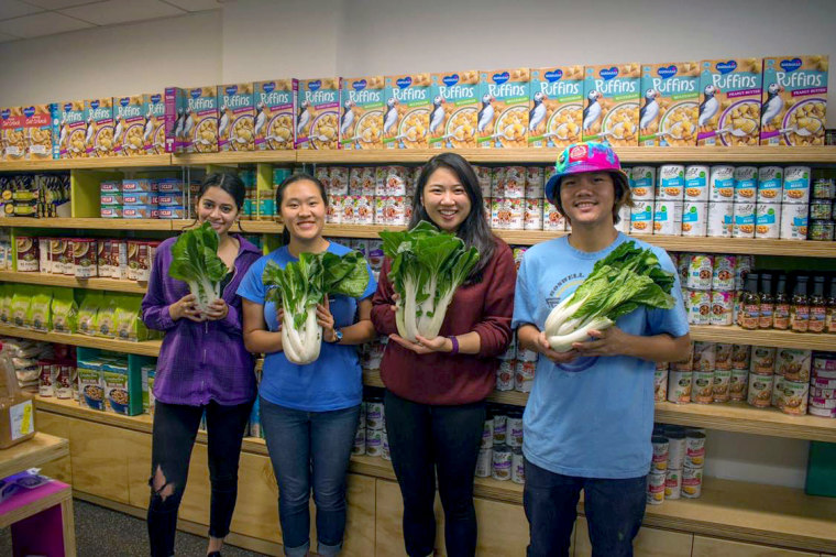 Members of the Friday restock team at the UC Berkeley Food Pantry.