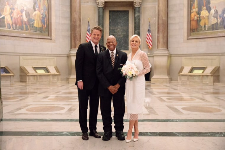 Joe Scarborough and Mika Brzezinski were married at the National Archives in Washington in November 2018. The ceremony was officiated by Rep. Elijah Cummings.