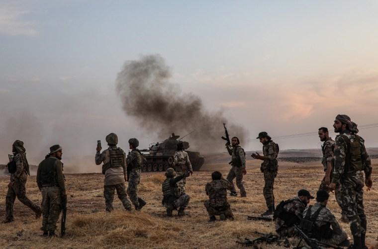 Image: TOPSHOT-SYRIA-TURKEY-CONFLICT-KURDS