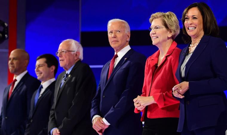 Image: Democratic primary debate