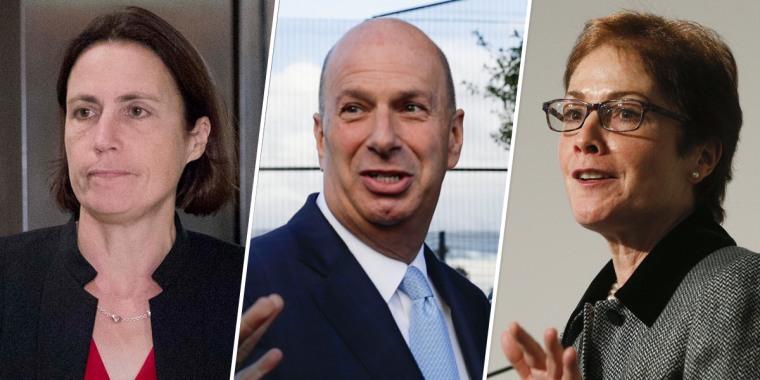 Fiona Hill, Gordon Sondland, Marie Yovanovitch