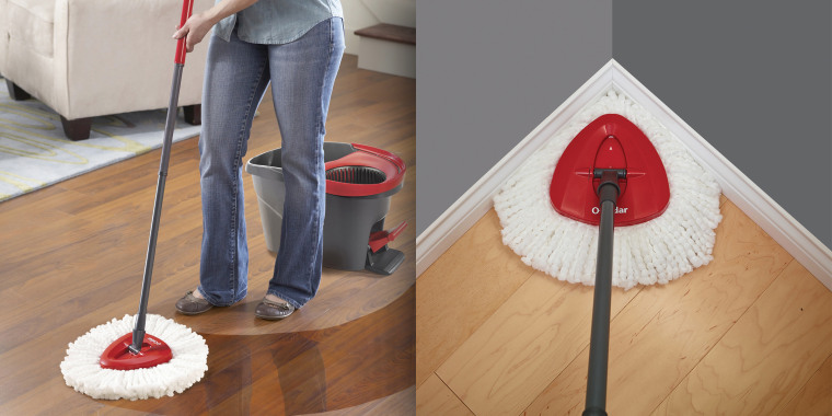 This expert-approved mop has a convenient foot-operated feature.