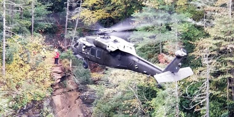 Hiker dies after falling down 75-foot waterfall in North Carolina