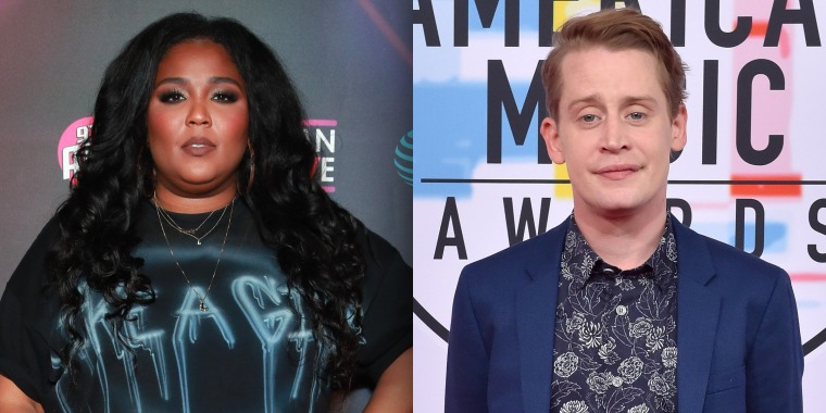 Lizzo and Culkin Macaulay on stage together