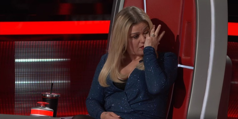 Kelly Clarkson couldn't hold back the tears after Rose Short and Jessie Lawrence performed.