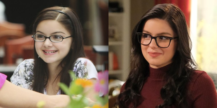 "Then and now: Ariel Winter on ""Modern Family"" in 2009 and in 2019."