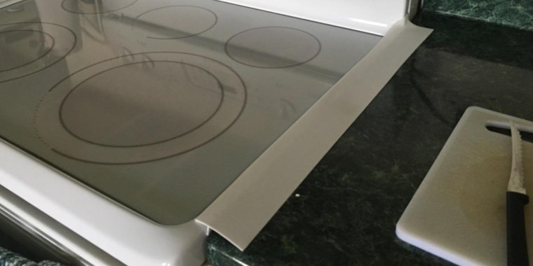 Stove Counter Gap Cover Kitchen Silicone Clean Crumbs Between Counter And Stove