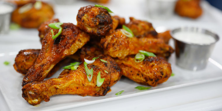 JOY BAUER - CHEATDAY FRIDAY: Buffalo Chicken Drumsticks + Oven-Roasted Cheese Fries + Egg Rolls with Duck Sauce