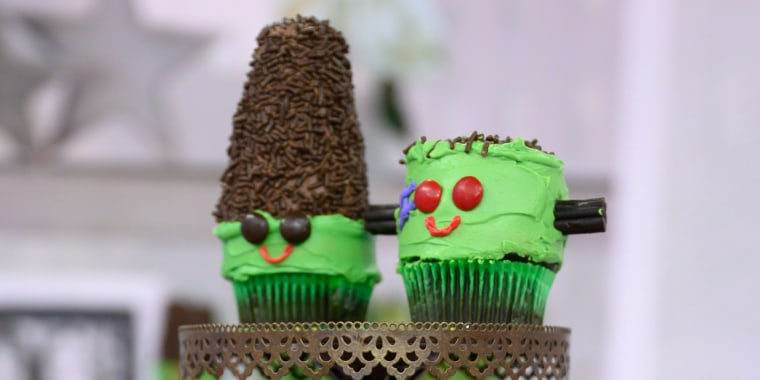 ANNA HELM-BAXTER / MEREDITH SINCLAIR: Mummy Cookies + Frankenstein Cupcakes + Bat Doughnuts + Cheesy Graveyard + Spiderweb Taco Dip + Mummified Jalapeno Poppers + Monster Burgers + Pumpkin Keg + Scaredy Cat Cocktail