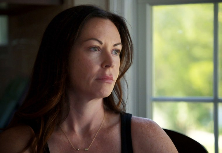 Image: April Scherzer lost her husband, Max, to suicide in 2016.