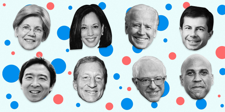 Which candidates have qualified for the MSNBC debate in November?