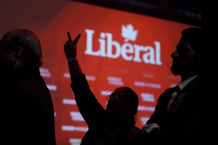 Image: Prime Minister Justin Trudeau Holds Election Night Watch Party In Montreal