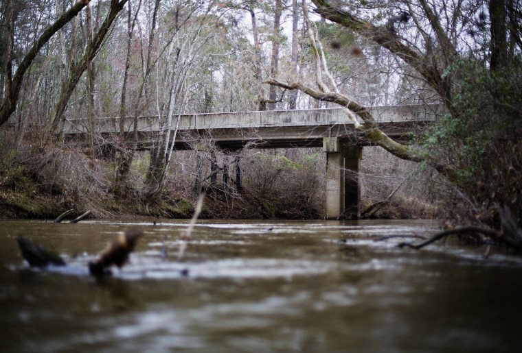 Image: A bridge that spans the Apalachee River at Moore's Ford Road where in 1946 two young black couples were stopped by a white mob who dragged them to the riverbank and shot them multiple times
