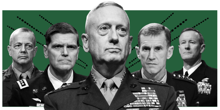 Trump's former generals, from James Mattis to Joseph Votel, sound an unprecedented warning