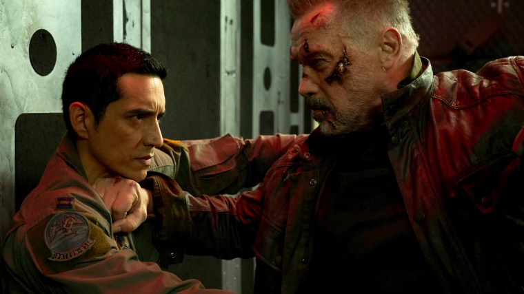 "Image: Arnold Schwarzenegger and Gabriel Luna star in ""TERMINATOR: DARK FATE."""