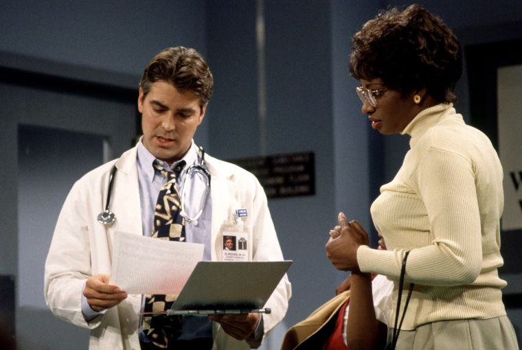 Image: George Clooney as Dr. Doug Ross in a skit on Saturday Night Live in 1995.
