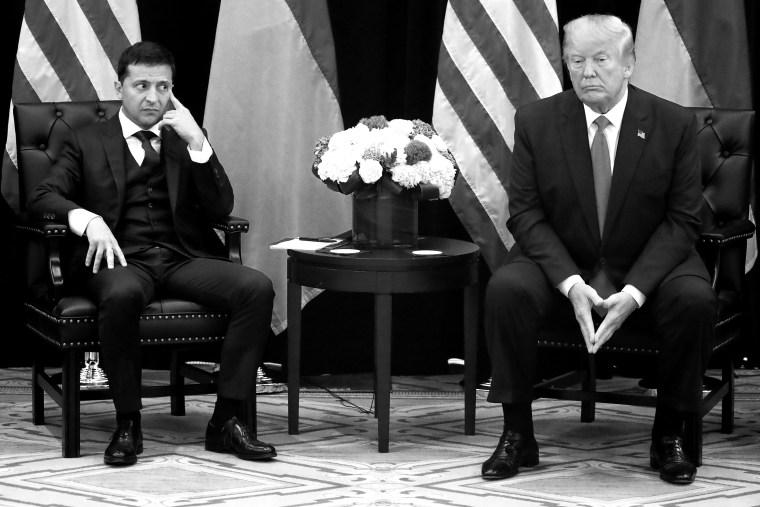 Image: U.S. President Trump meets with Ukraine's President Zelenskiy in New York City, New York