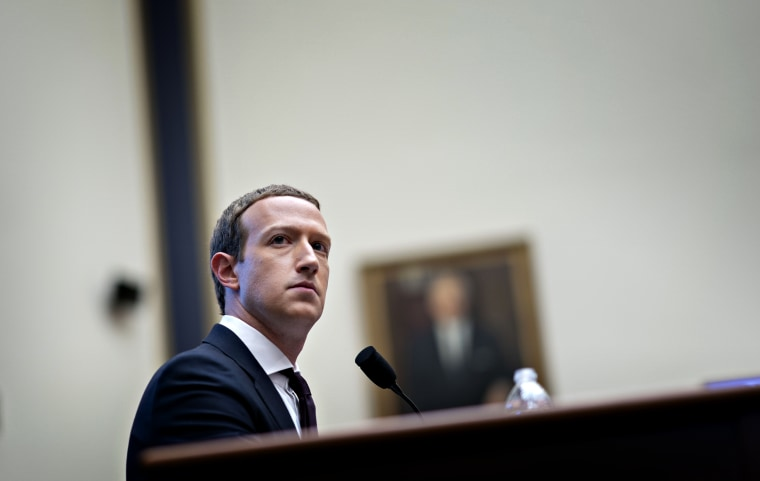Image: Mark Zuckerberg testifies during a House Financial Services Committee hearing on Facebook's plans for a cryptocurrency in Washington on Oct. 23, 2019.