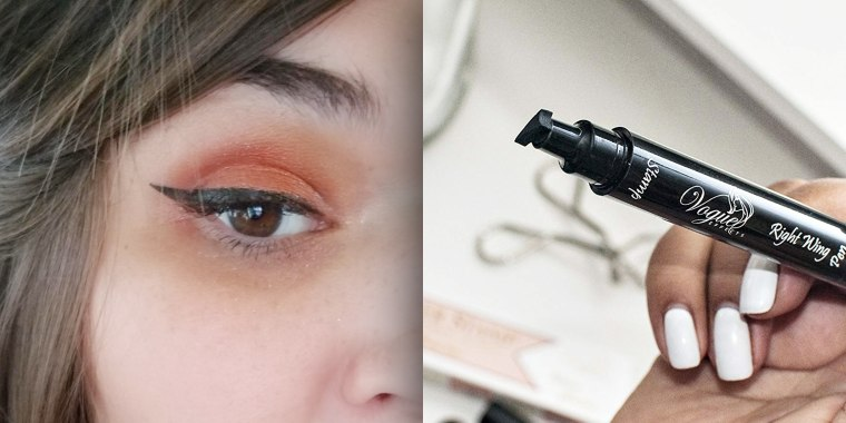 Amazon customers say this unique eyeliner applicator is the real deal.