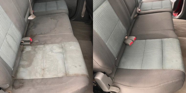Car cleaner before and after