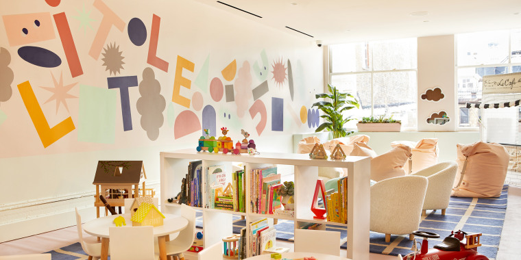 The Little Wing, currently offered at The Wing's locations in New York City's SoHo neighborhood and West Hollywood, California, allows members to access child care while they work.