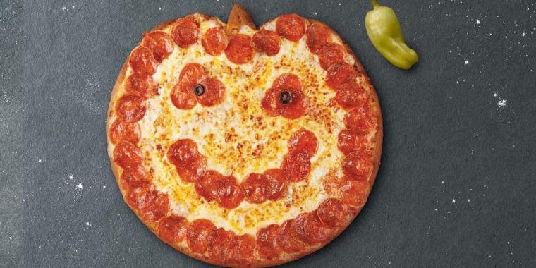 Papa John's Halloween pizza doesn't always come looking like a happy pumpkin.