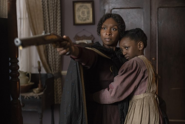 """Cynthia Erivo stars as Harriet Tubman and Aria Brooks as Anger in """"Harriet."""""""