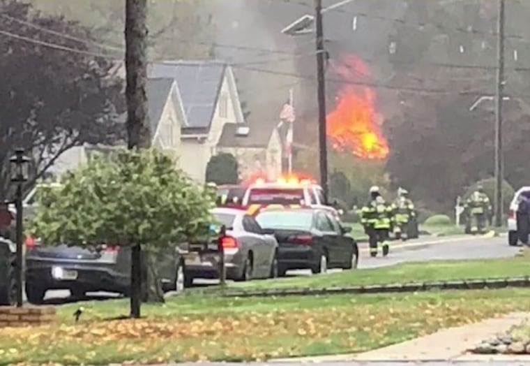 Image: Plane crash Colonia New Jersey