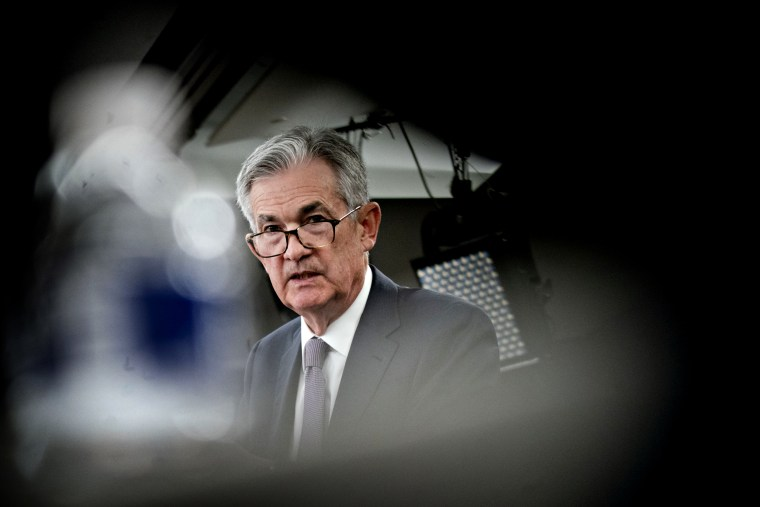 Image: Federal Reserve Chairman Jerome Powell speaks at a news conference in Washington on Sept. 18, 2019.