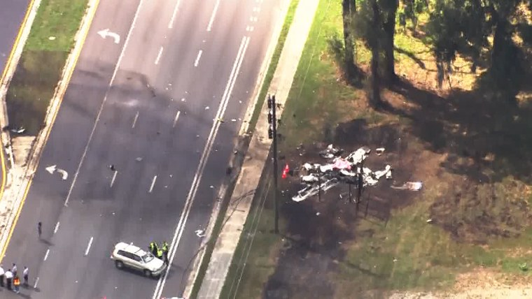 Two people are dead after a plane crashed Thursday morning along a busy road in Ocala, Fla. according to police.