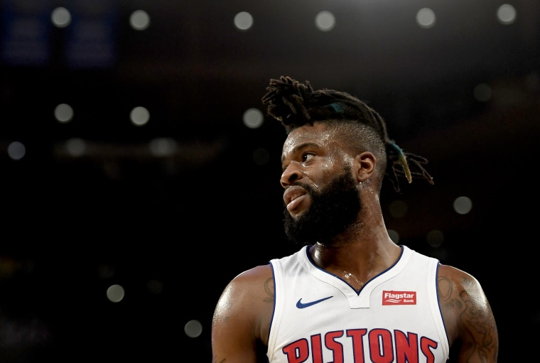 Image: Reggie Bullock looks on during a game at Madison Square Garden on Feb. 5, 2019.