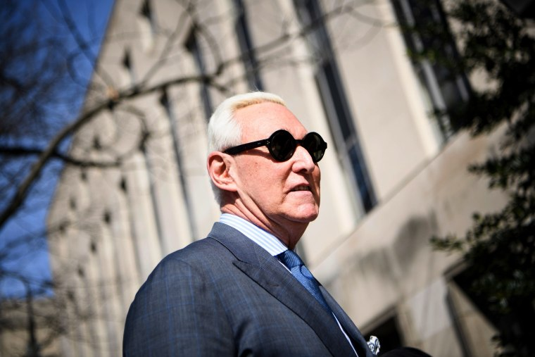 Image: Roger Stone arrives at District Court in Washington on Feb. 21, 2019.