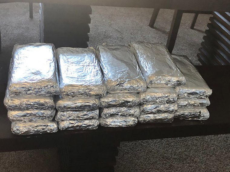Image: Seizure of over 40 pounds of suspected Fentanyl during the week of Oct. 21, 2019 in Ohio.