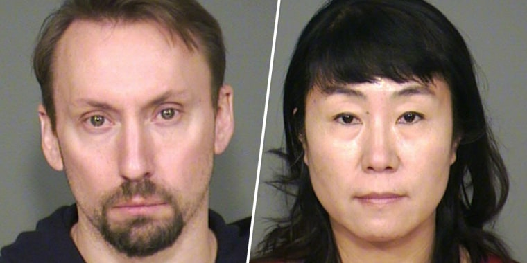 Zach Robbins and his wife Jie Robbins were arrested for trafficking stolen property.
