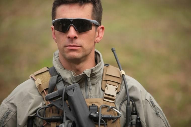 U.S. Marine Special Operations Team commander Derek Herrera served in Afghanistan in 2012.