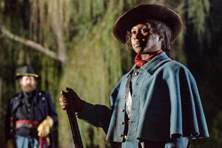 "Image: Cynthia Erivo stars as Harriet Tubman in ""Harriet."""