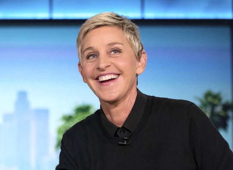 """Image: Ellen Degeneres during a taping of \""""The Ellen Show\"""" in Burbank, Calif., in 2016."""